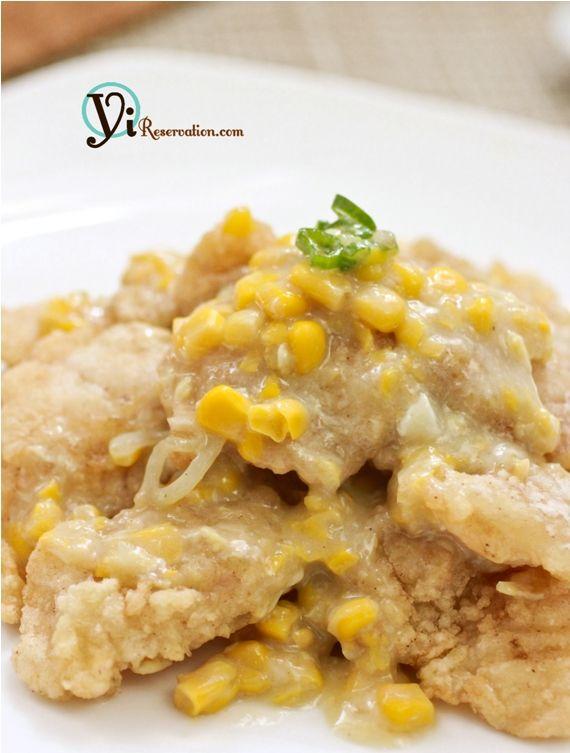 Fish fillets in creamy corn sauce recipe creamy corn for Creamy sauce for fish