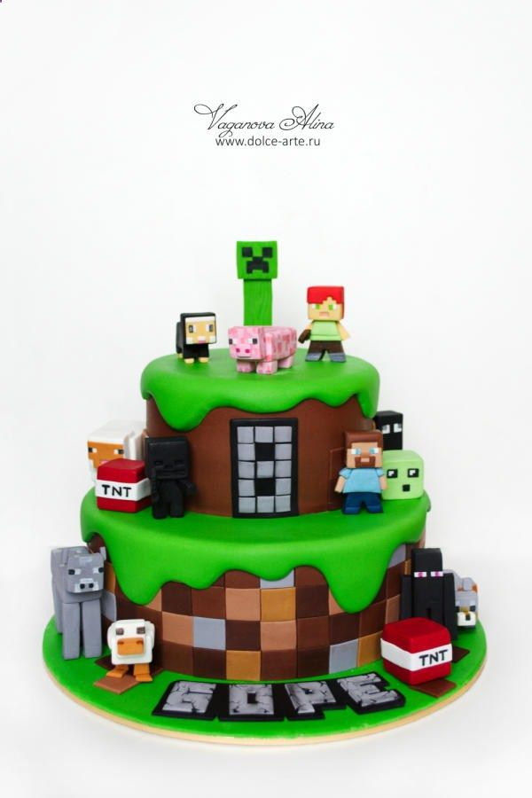 Minecraft cake by Alina Vaganova