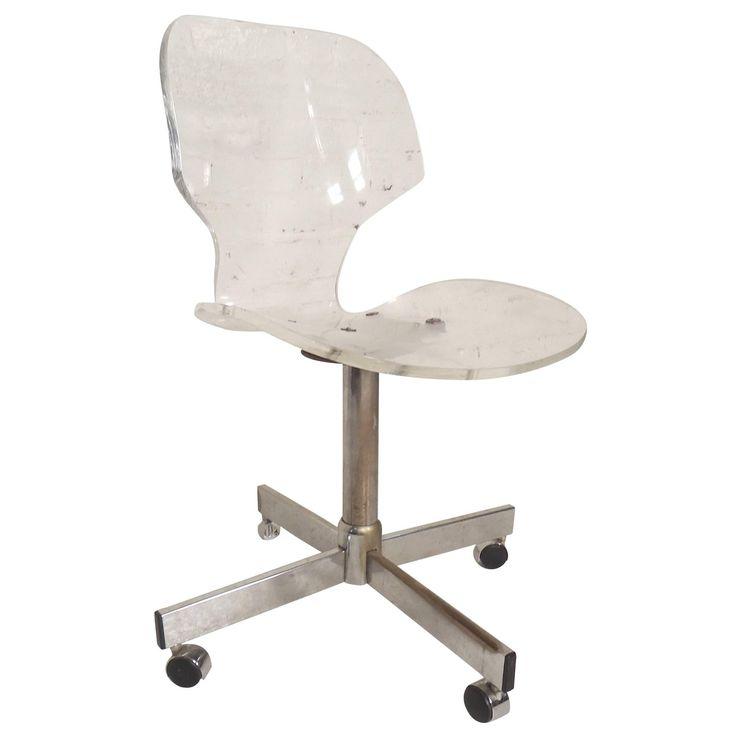 Mid-Century Modern Lucite Desk Chair