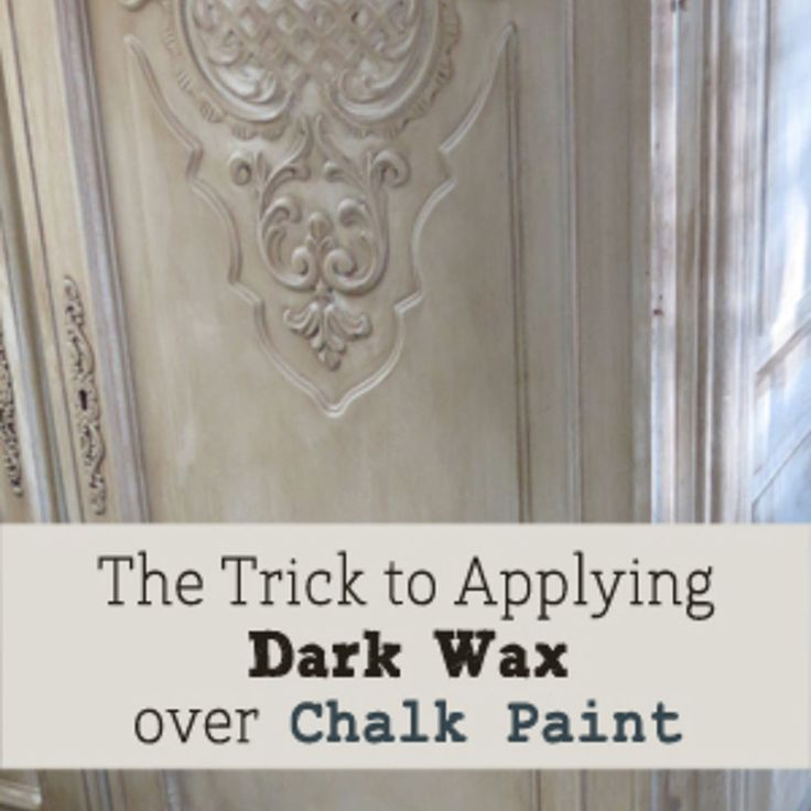 trick to applying dark wax over chalk paint on furniture furniture dark wax and wax. Black Bedroom Furniture Sets. Home Design Ideas