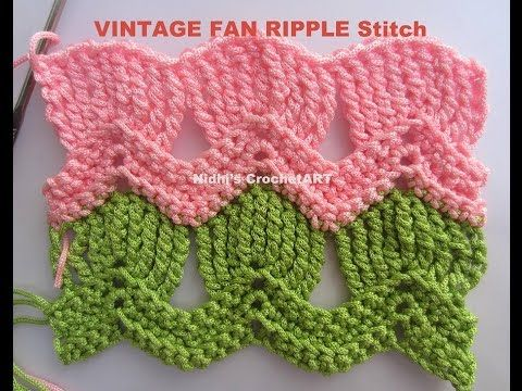 Crochet Stitches Youtube Channel : FAN RIPPLE Stitch Tutorial ?Nidhi?s CrochetART? YouTube Channel ...
