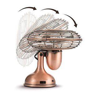 レトロ 復古 扇風機 小型 充電式 電池 Usb 静音 卓上 強風 4枚羽根 携行便利 ミニ デスクトップ 静音性 金属 プラスチック 熱中症対策 角 扇風機 小型 扇風機 便利