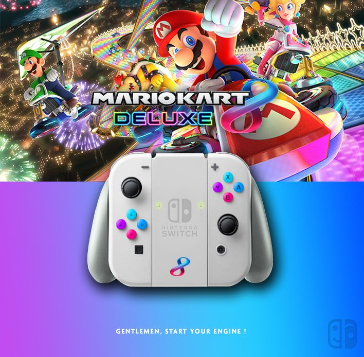 Nintendo Mario Kart 8 Deluxe, Collector edition. joycon, nintendo switch, dock, joy-con