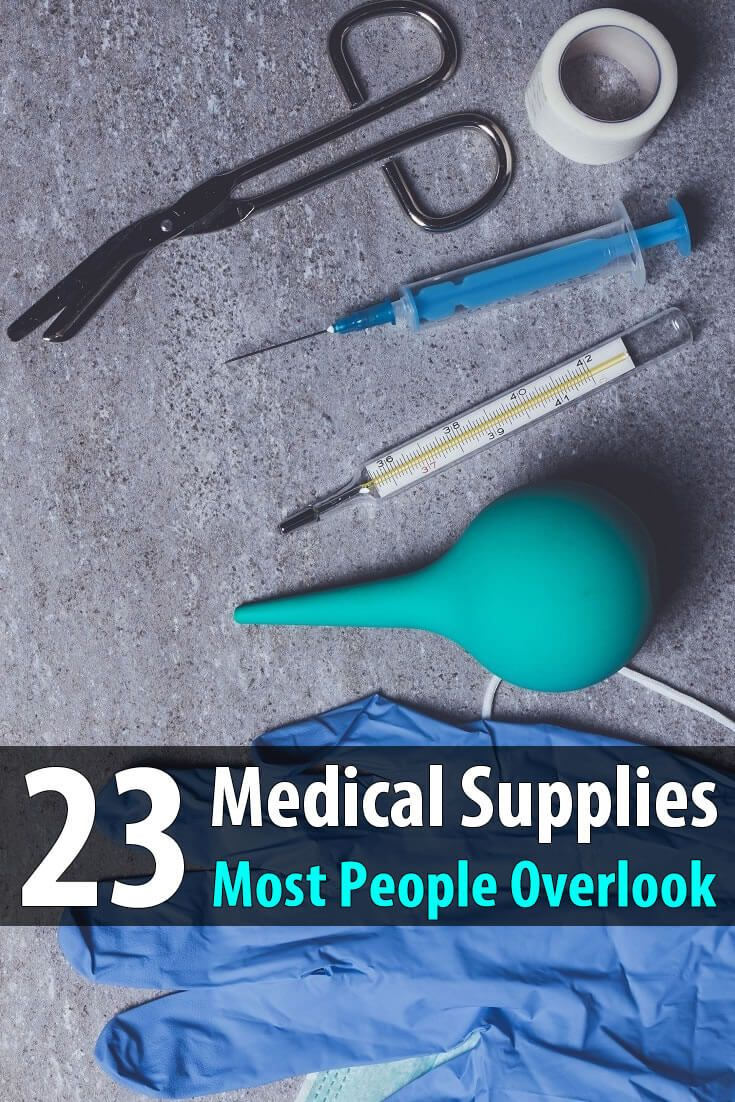 If you're preparing for a long-term disaster where doctors and hospitals will be unavailable, you'll need more than just the basic medical supplies.