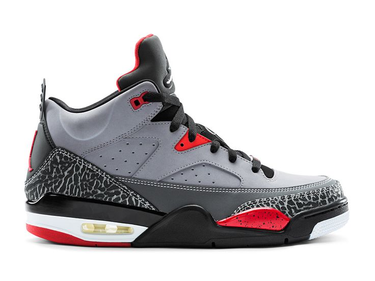 Jordan Son of Mars Low - Men's - Basketball - Shoes - Cement  Grey/Black/Fire Red/White
