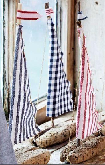 driftwood sail boats