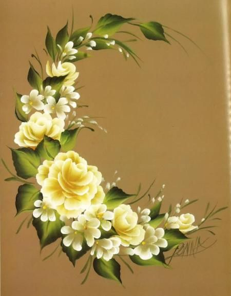 Donna Dewberry Flowers Painting | Heres an example of a painted side table showing some detailing on ...