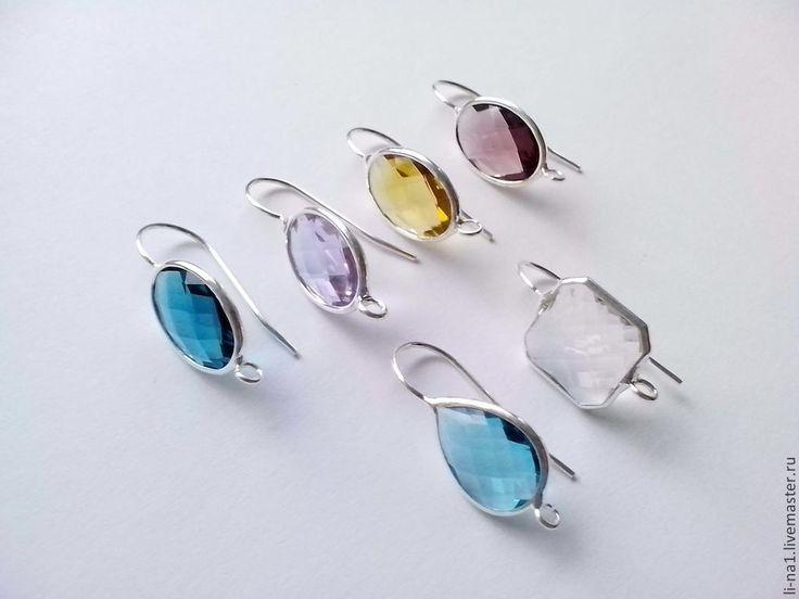 Купить Швензы с кристаллами - швензы, швензы для украшений, швензы серебро, швензы для серег