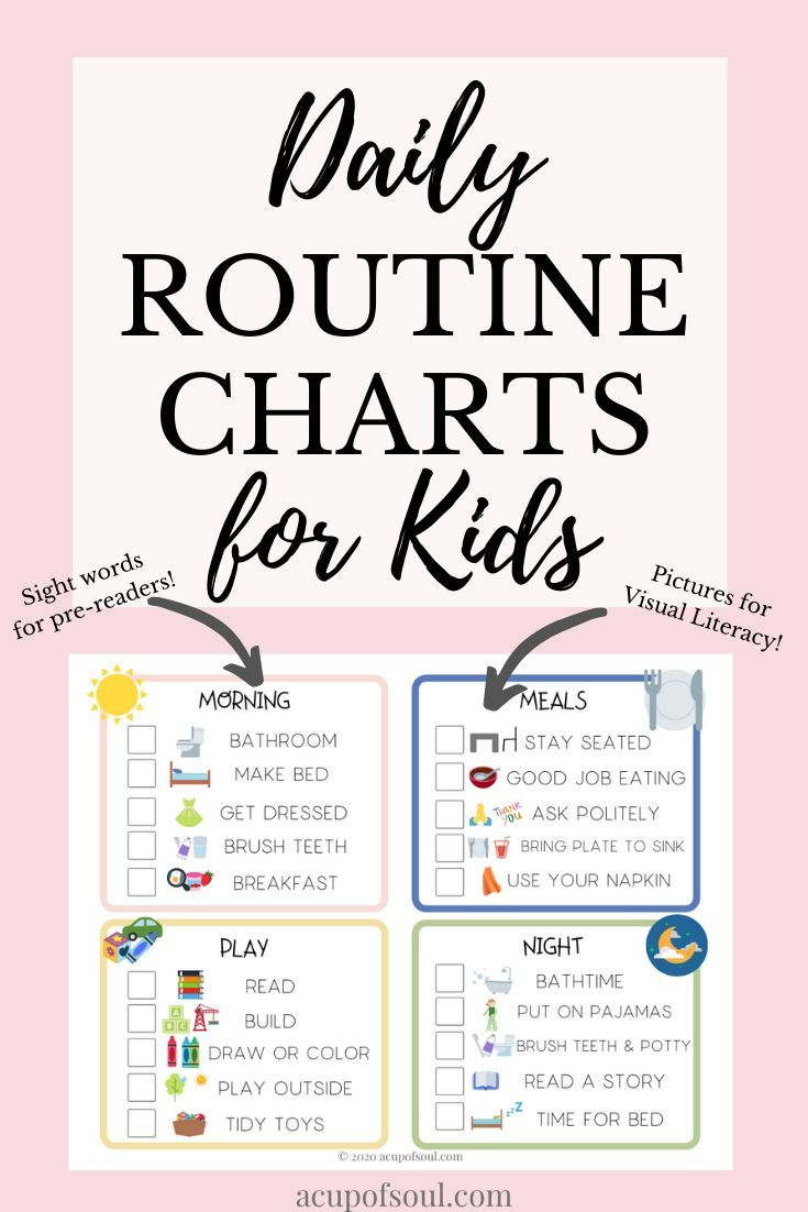 Spring Kids Daily Routine A Cup Of Soul Daily Routine Chart For Kids Daily Routine Chart Charts For Kids