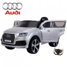 12v audi silver jeep battery powered ride on toy with eva tyres
