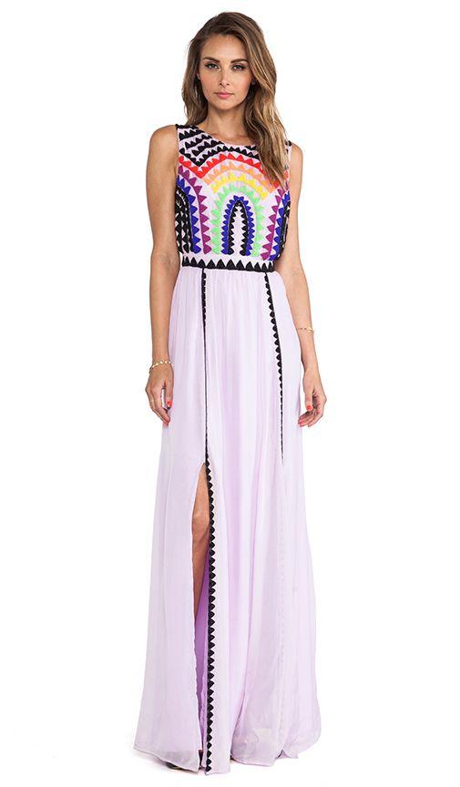 Mara Hoffman Rainbow Beaded Backless Gown