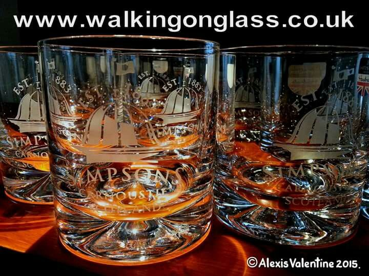 Simpsons of Carnoustie Golf Shop  Dartington Crystal Dimple Whisky Tumblers Www.walkingonglass.co.uk Www.simpsonsgolfshop.co.uk @glassforwalkers  @hickoryclub #glassengraving #crystal #Rossendale #Lancashire #scotland #carnoustie #golf