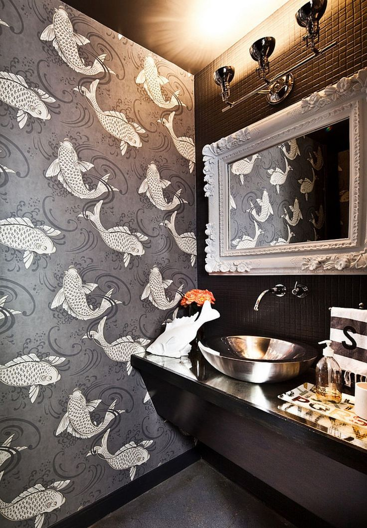 Best 25+ Koi wallpaper ideas on Pinterest | Bathroom wallpaper silver,  Bathroom wallpaper fish and Gold motif wallpaper