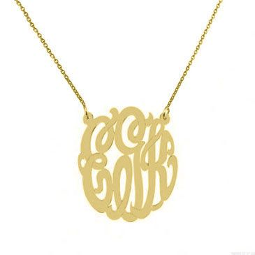 Gold Monogram necklace  any initial tiny gold by justforfundesign, $36.00