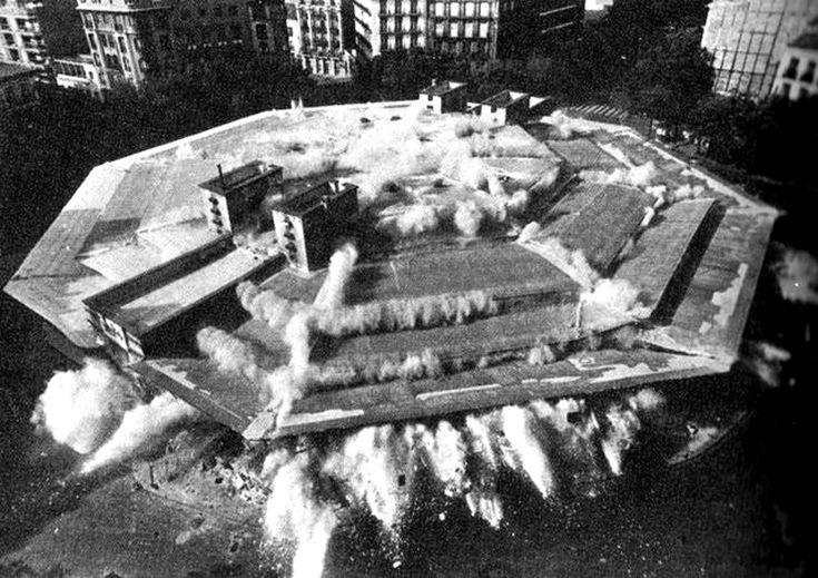 Voladura del mercado de Olavide en 1971