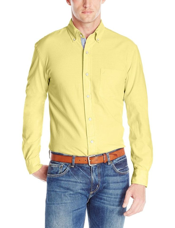 Nautica Mens Long Sleeve Solid Oxford Shirt Large Nautica