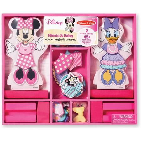 Melissa & Doug Disney Minnie Mouse and Daisy Wooden Magnetic Dress-Up - Walmart.com