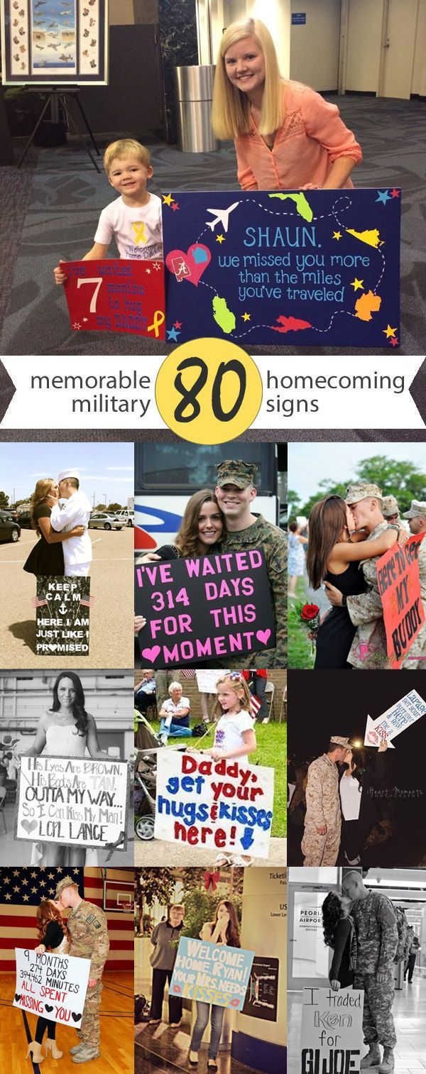 80 Signs & Ideas For Military Homecomings & Welcome Home Events | www.signs.com #military #homecoming #welcomehome