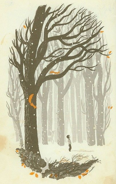 'A winter walk in the woods' illustrated by Elmer Jacobs