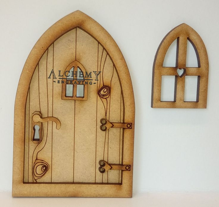 Country Cottage 3D Fairy Door Wooden Craft Kit with Fairy Window and Door Handle  | eBay
