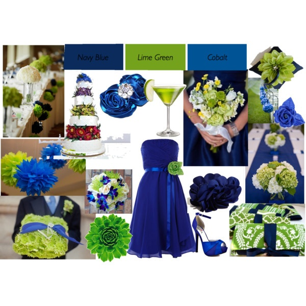 Lime Green and colbolt blue wedding | Cobalt blue, Limes ...
