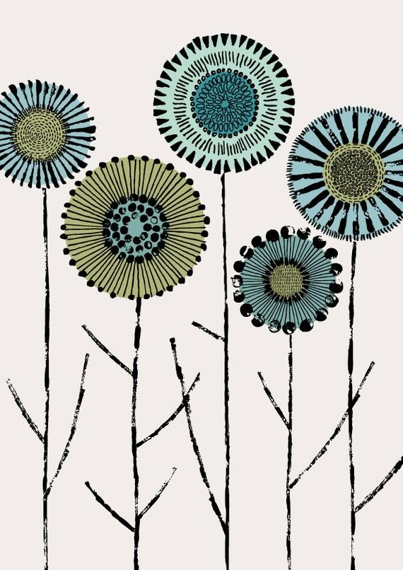 A print by Eloise Renouf on Etsy. I've ordered four of her prints. Fantastic work.