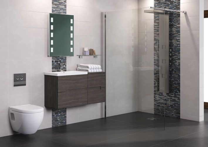 Urban is ideal for larger bathrooms and creating wall hung looks to complement wetrooms. The additional side drawer unit shown here greatly enhances the storage capability of the vanity unit.