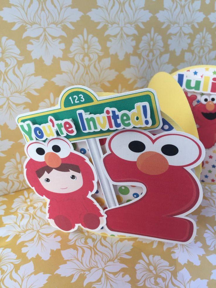 Elmo birthday invitations 25 sesame street birthday