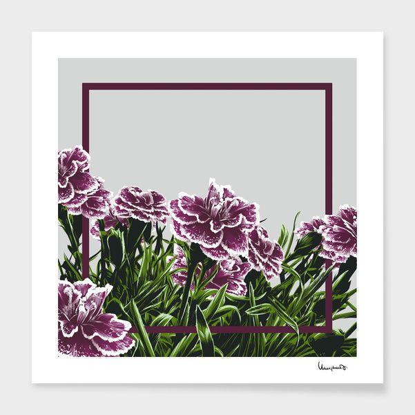 Discover «Garofani», Exclusive Edition Fine Art Print by Paola Morpheus #pictures #interiordesign #bedroom #bathroom #dinningroom #garofani #summer #dress #dresses #design #moda #moda2017 #summer2017 #geometric #geometria #foglie #banana #leaf #cameradaletto #arredo #arredamento #green #bio #flower #fiori #piante #natura #nature #plant #deco #idee #ideegreen #wedding #gif #buy #paolamorpheus #artist #living #room #livingroom #italy #beauty #house #housesweethouse #spring #garden