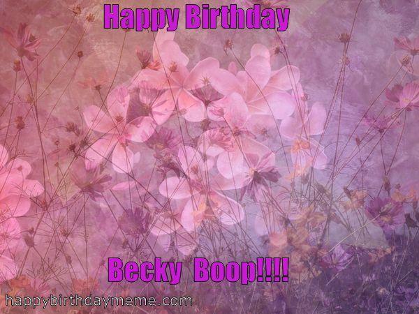 flowers for becky