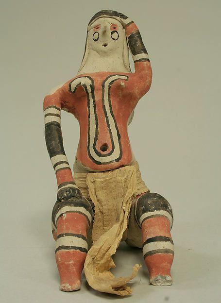boneca Karajá, de cerâmica