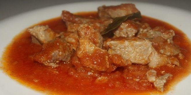 Pulpa De Cerdo En Salsa En 2020 Carne Con Tomate Recetas Con Carne Cerdo En Salsa