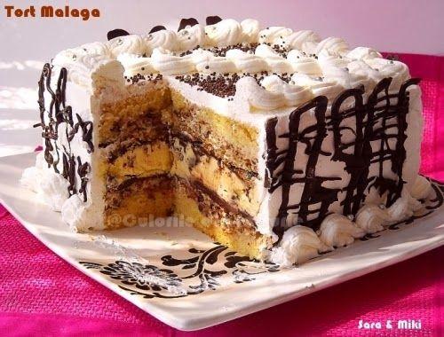 Tort Malaga ~ Culorile din farfurie