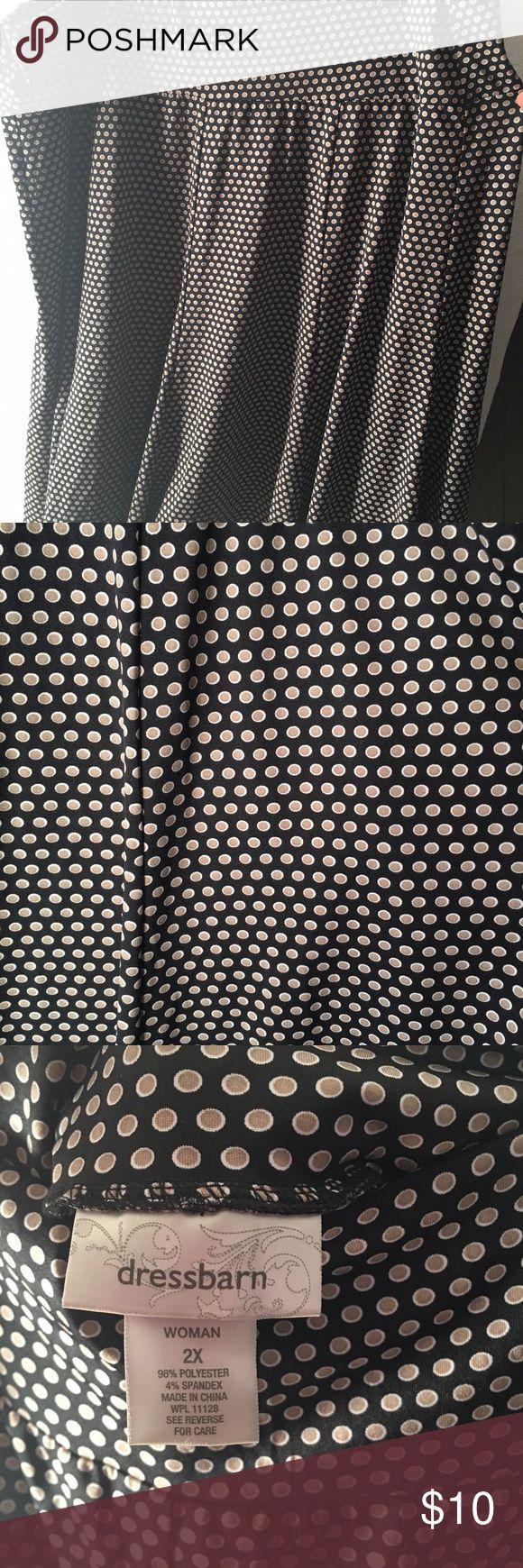 Tan & Black polka dot skirt Tan & Black polka dot skirt. Dress Barn Skirts Midi
