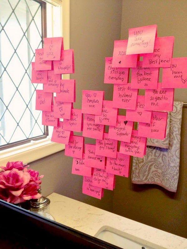 ber 40 kreative ideen zum valentinstag diy und. Black Bedroom Furniture Sets. Home Design Ideas