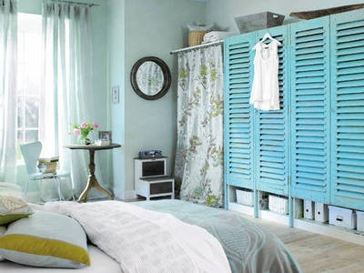 """Add shutter doors and shabby chic curtains to """"rustify"""" your space"""