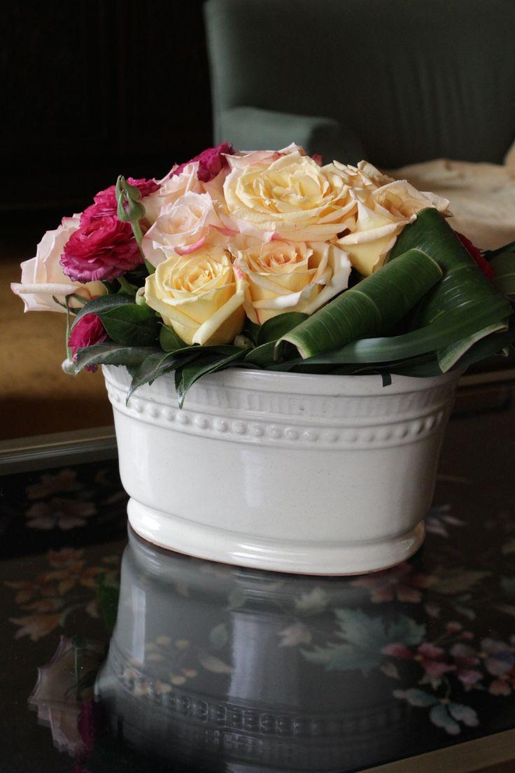 maceta de ceramica blanca