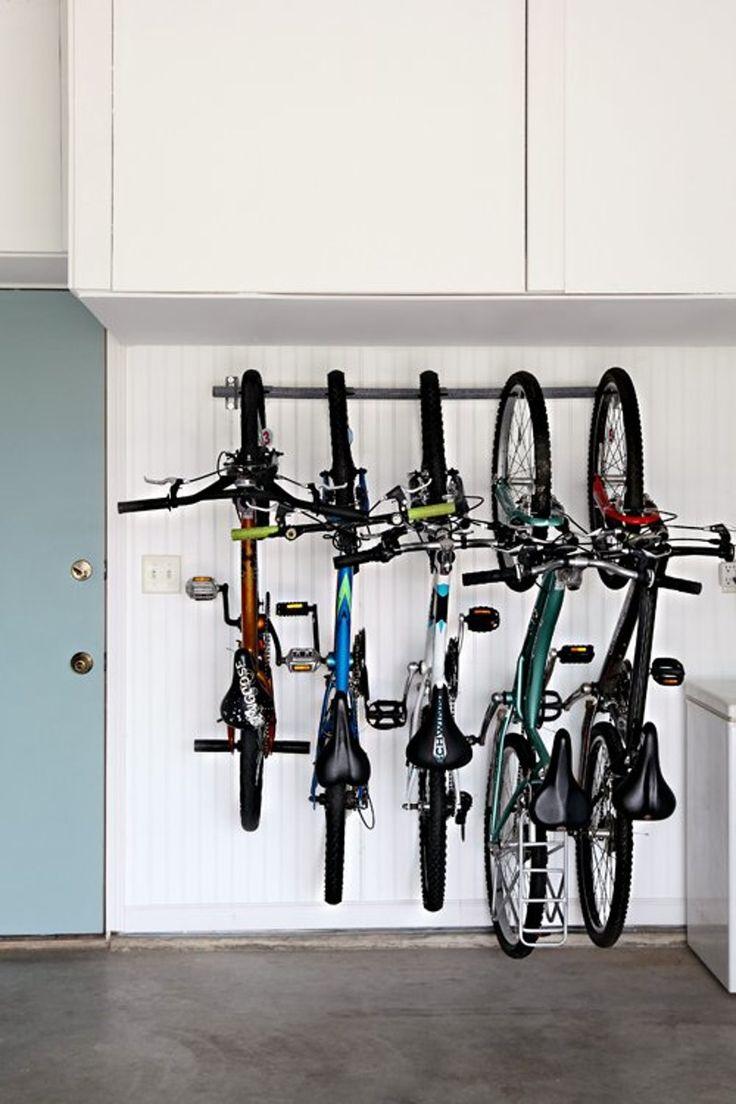 20+ Clever Ideas for a Super Organized Garage Bike rack