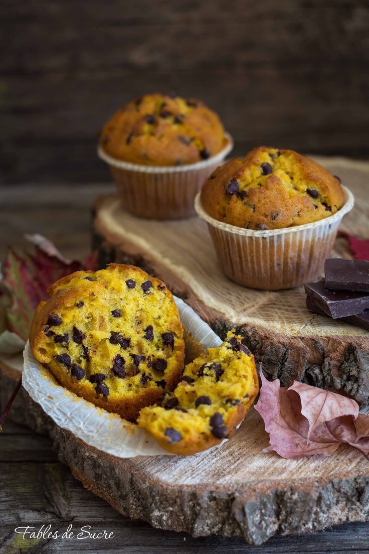 Muffin alla zucca e cioccolato | Fables de Sucre