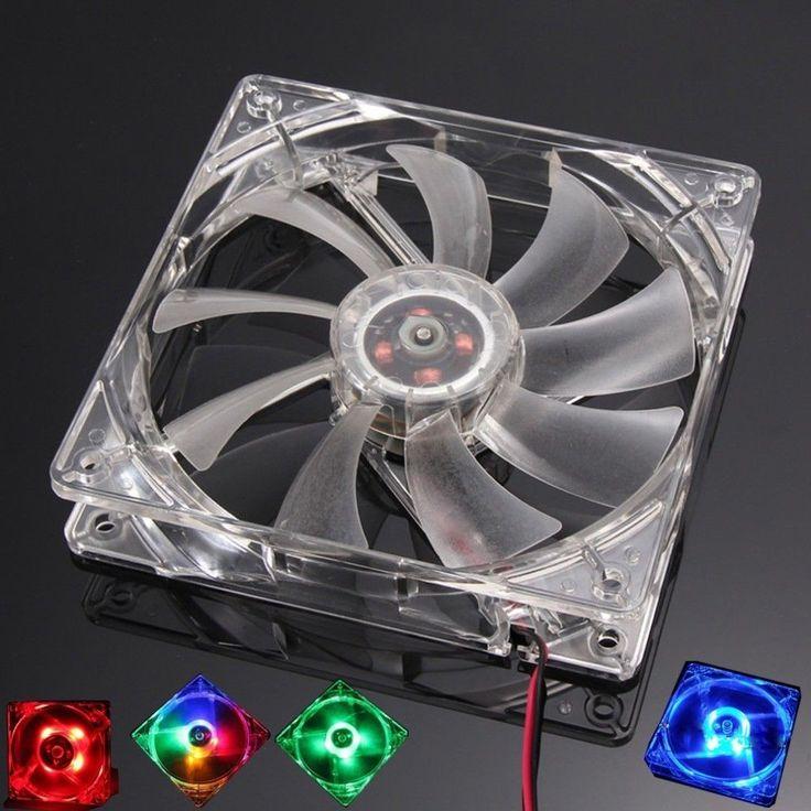 PC Computer Fan Quad 4 LED Light 120mm PC Computer Case 12V Cooling Fan Mod Quie #Doesnotapply