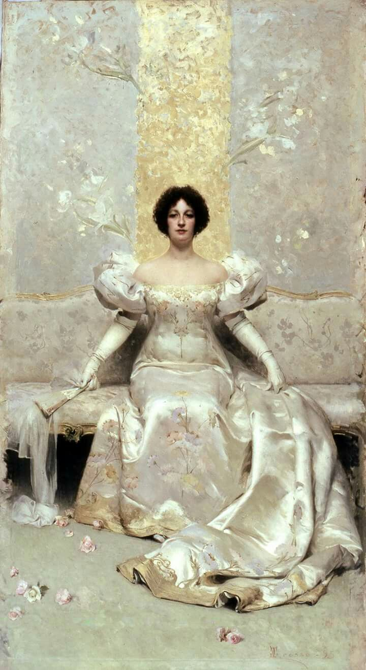GIACOMO GROSSO (Torino, 1860-1938) La femme 1895. Olio su tela