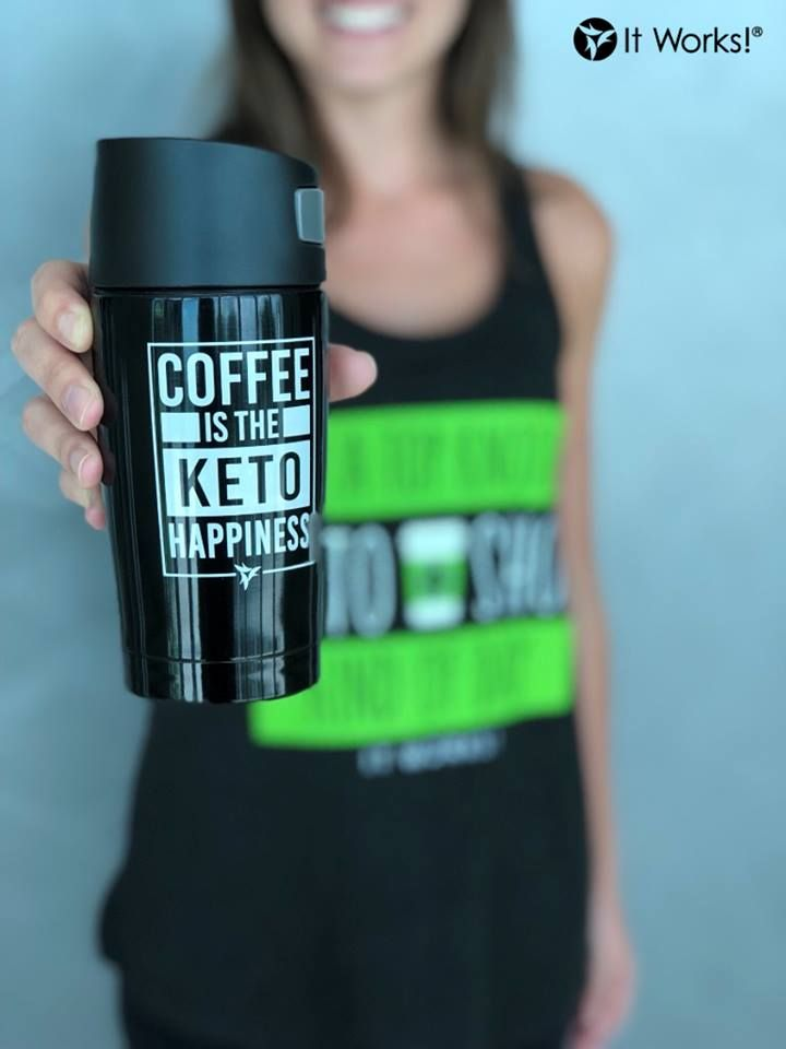 We have the  to happiness and it's called It Works! Keto Coffee ☕️! #FitFueledFocused #WearItWorksWednesday