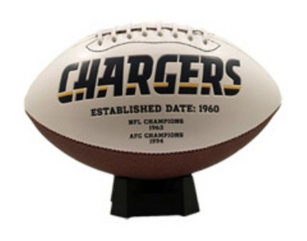 San Diego Chargers Signature Series Full Size Football: This classic NFL San Diego Chargers… #SportingGoods #SportsJerseys #SportsEquipment