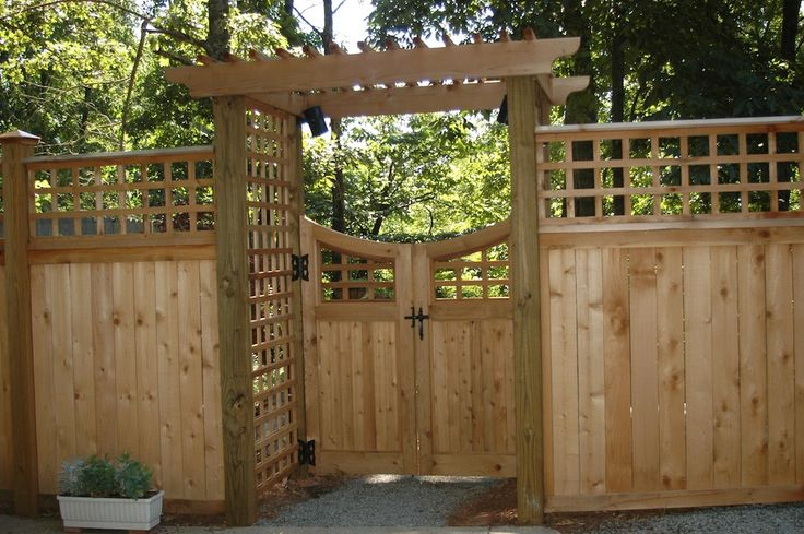 craftsman style fences and gates | list of various types of free fence and gate projects all of which can ...