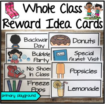 Whole Class Reward Idea Cards ~EditableAre you looking for whole class reward ideas for when they reach their goal? Included in this set are 49 class reward ideas. You can pick a few and vote as a class what reward they'd like to earn, put a few ideas in a bucket and choose one, or just pick an idea for the class.