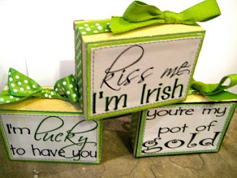 St. Patrick's Day/Valentines Day... all bundled up into one sweet home decor block :)