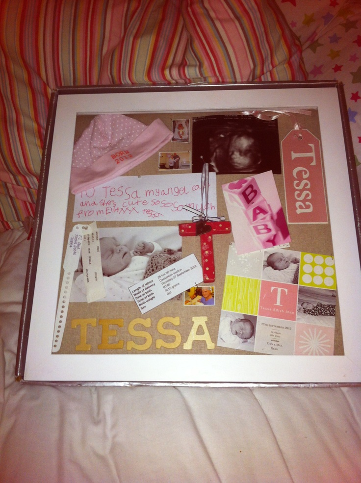 baby memory frame