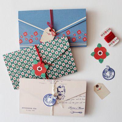 TAG LETTER / pattern design / retro pattern / flower letter paper / gentlewave