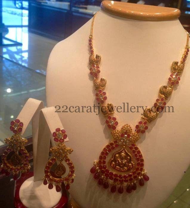 Jewellery Designs: Rubies Lakshmi Necklace