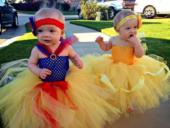 Tea To Full Length Beauty & the Beast Belle Baby Girls Tutu Dress Birthday Party Costume Disney Princess Halloween on Etsy, $25.00